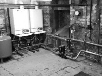 Commercial boiler installation - Ideal Evomax - 120kw boiler installation.